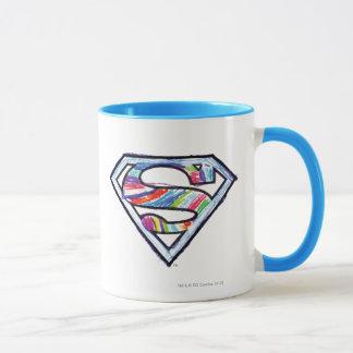 Supergirl Colorful Sketch Logo Mug