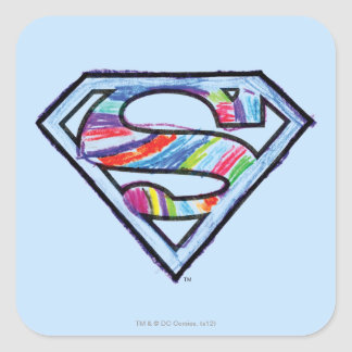 Supergirl Colorful Sketch Logo Stickers