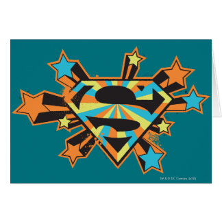 Supergirl Colorful Stars Logo Card
