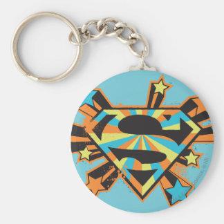Supergirl Colorful Stars Logo Key Ring