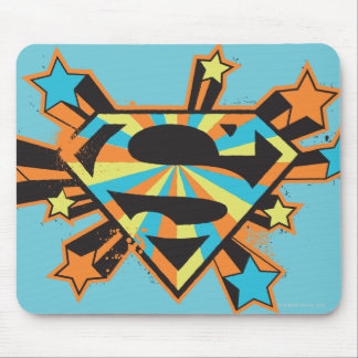 Supergirl Colorful Stars Logo Mouse Mat