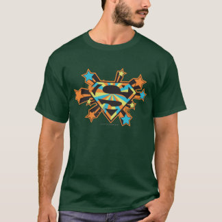 Supergirl Colorful Stars Logo T-Shirt