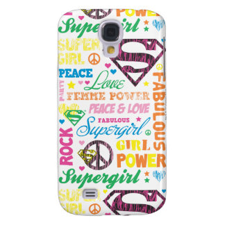 Supergirl Colorful Text Collage Galaxy S4 Case