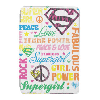 Supergirl Colorful Text Collage iPad Mini Cover