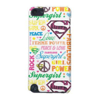 Supergirl Colorful Text Collage iPod Touch 5G Case