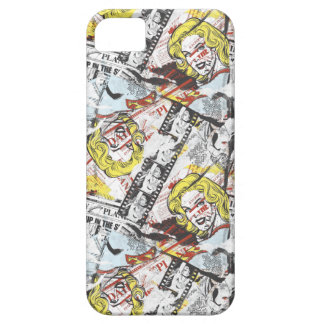 Supergirl Comic Capers Pattern 2 iPhone 5 Case