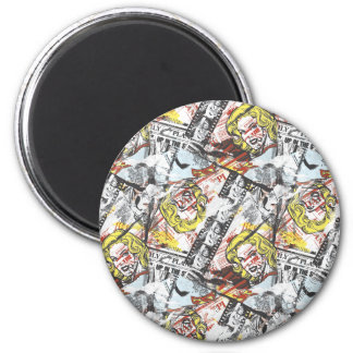Supergirl Comic Capers Pattern 2 Magnet