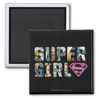 Supergirl Comic Logo Magnet