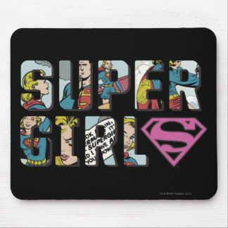Supergirl Comic Logo Mouse Mat