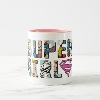 Supergirl Comic Logo Two-Tone Coffee Mug