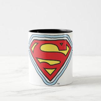 Supergirl Comic Logo Two-Tone Coffee Mug