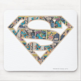 Supergirl Comic Strip Logo Mouse Mat