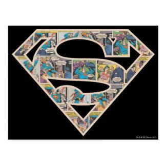 Supergirl Comic Strip Logo Postcard