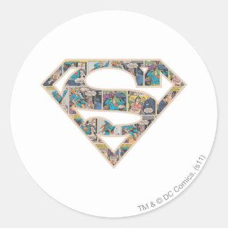 Supergirl Comic Strip Logo Round Sticker