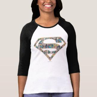Supergirl Comic Strip Logo T Shirt