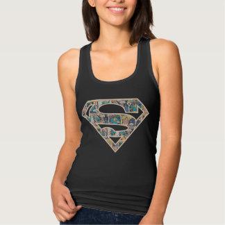 Supergirl Comic Strip Logo Tank Top