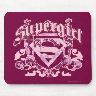 Supergirl Crest Design Mouse Mat