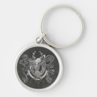 Supergirl Crest Silver-Colored Round Key Ring
