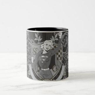 Supergirl Crest Two-Tone Coffee Mug