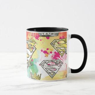 Supergirl Crown Pattern Mug