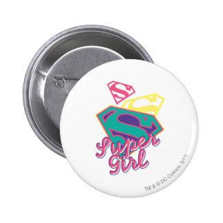 Supergirl Cursive 6 Cm Round Badge