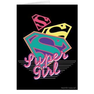 Supergirl Cursive Card