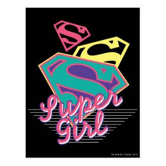 Supergirl Cursive Postcard