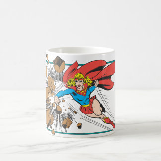 Supergirl Destroys Boulder Basic White Mug