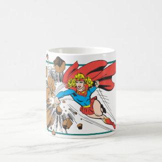 Supergirl Destroys Boulder Basic White Mug