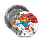 Supergirl Destroys Boulder Buttons