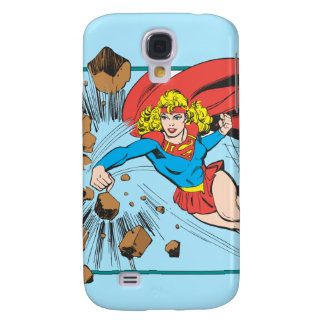 Supergirl Destroys Boulder Galaxy S4 Case