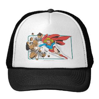 Supergirl Destroys Boulder Mesh Hat
