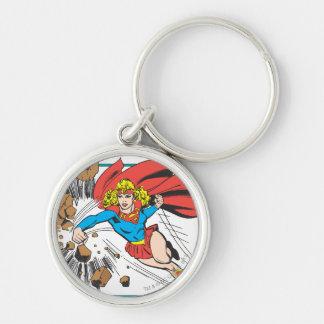 Supergirl Destroys Boulder Key Ring
