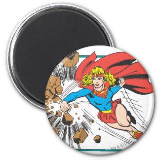 Supergirl Destroys Boulder Magnet