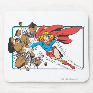 Supergirl Destroys Boulder Mouse Mat