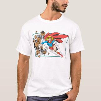 Supergirl Destroys Boulder T-Shirt