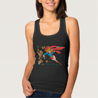 Supergirl Destroys Boulder Tank Top