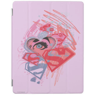 Supergirl Diamonds and Lips iPad Cover