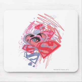 Supergirl Diamonds and Lips Mouse Mat