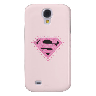 Supergirl Distressed Logo Black and Pink Galaxy S4 Case