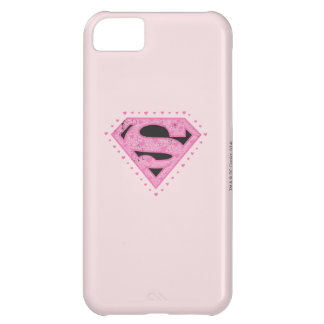 Supergirl Distressed Logo Black and Pink iPhone 5C Case