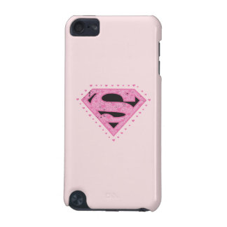 Supergirl Distressed Logo Black and Pink iPod Touch (5th Generation) Covers