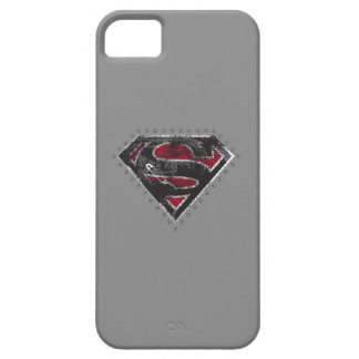 Supergirl Distressed Logo Black and Red iPhone 5 Case