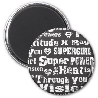 Supergirl Distressed Text Magnet