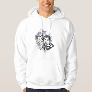 Supergirl Face Collage Hoodie