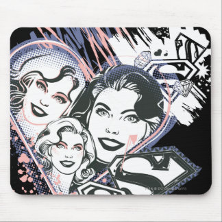 Supergirl Face Collage Mouse Mat