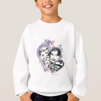 Supergirl Face Collage Sweatshirt