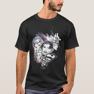 Supergirl Face Collage T-Shirt