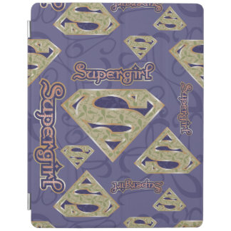 Supergirl Fancy Logo Collage iPad Cover