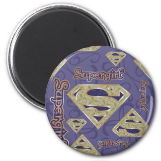 Supergirl Fancy Logo Collage Magnet